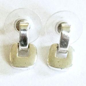 MONET Earrings Dainty Silver Vintage